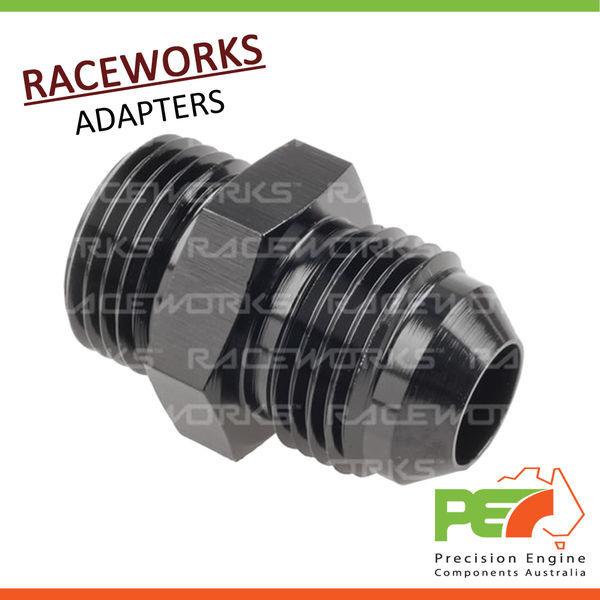 RACEWORKS Y BLOCK MALE FLARE AN THREAD 3 X AN-8 RWF-930-08-08BK