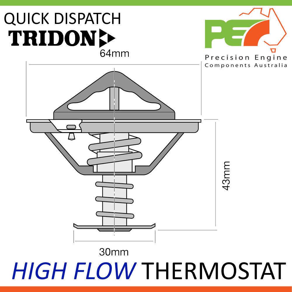 TRIDON HIGH FLOW THERMOSTAT FIT PULSAR RNN14 N14 SSS SR20DE SR20DET